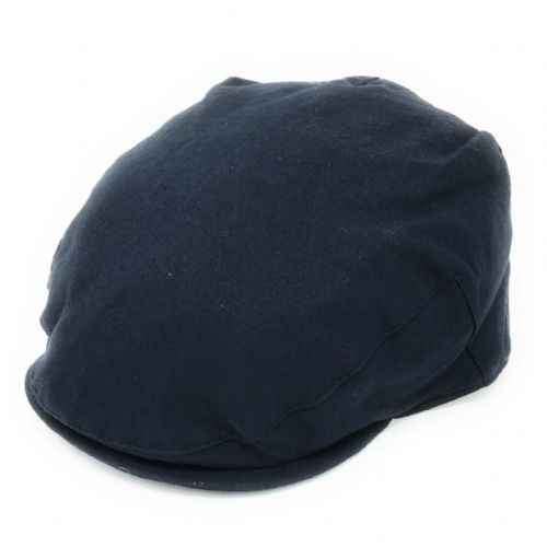 Linen Flat Cap - Fully Lined - Navy